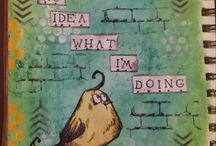 Mixed Media art, art journal pages inspirations