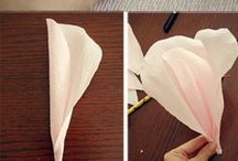 Paper Flowers and gift wrapping crafts