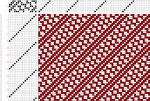 16 schachts patronen / Weefpatronen