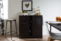 Bar cabinets and cellars / We do love wine :)