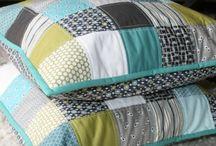 Log Cabin Patchwork Cushion - Fashion