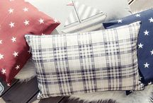 American style decor / Blue, red, white. American style decorating ideas from Lilla Sky.