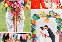 Colourful festival wedding