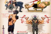 ejercicios de heroes