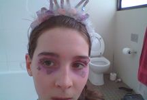 Eye makeup / This is crazy eye makeup which I've done on myself!