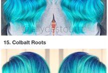 Włosy o wszystkich kolorach... czego tam chcesz :) / Niebieskie włosy smaczniej smakują z ciastkami XD