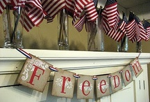 Patriotic / Items of decoration & celebration to help celebrate our patriotic days. I love the land of the free- because of the brave!