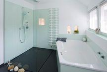 Showers  Duschen / design dusche, bodengleiche dusche, begehbare dusche