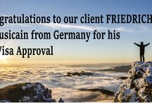 O-1 Visa Approvals / Our Clients who have been approved with our guidance.
