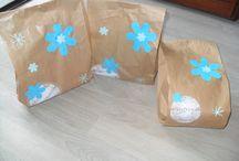 decorare sacchetti di carta