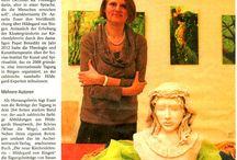 Scivias-Institut für Kunst und Spiritualität / Es werden Zeitungsartikel und kleine Essays gepinnt, die sich mit Hildegard von Bingen oder Kunst und Spiritualität beschäftigen