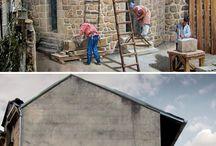 Pinturas nas paisagens urbanas / pinturas artísticas em paredes