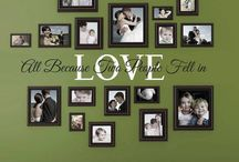 Family photo walls