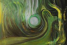"""Xenia miranda /       """"Mi arte es una exploración pictórica,es un viaje a la busca     del ser, con mensajes. alegorías y sueños.        My art is a pictorial exploration, it is a journey in search of one's self, with messages, allegories and dreams."""""""