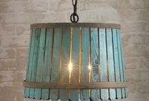 bushel basket lamps