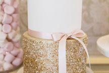 glitter cakes