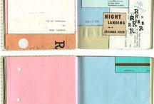 Notebooks / Inside of notebooks, journals, and sketchbooks