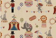 Fabric Freedom: Circus / Roll up, roll up and visit the Juberry circus fabrics from Fabric Freedom.  The Ringmaster takes centre stage as lions, sea lions, elephants and other animals entertain you.  All the fun of the circus with multi coloured stars and bunting finishing off our range.