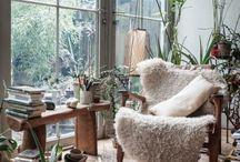 Salon living-room bibliothèque