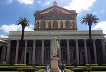 Rome,San Paolo neighborhood  / San Paolo fuori le mura's church