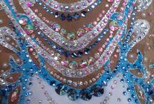Detaljer på dansekjoler