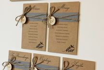 Rustic wedding day stationery / Rustic day stationery