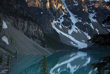 Mountains / Mountain vista hiking view valley lake images