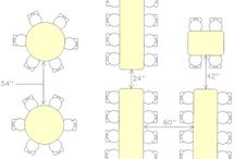 Table seating / Guide to seating layout