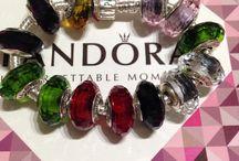 Граненые бусины в стиле PANDORA / Стеклянные бусины Пандора