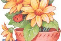 maceta con flores