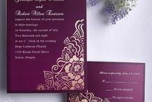 Фиолетовые свадебные приглашения