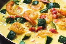 curry courgettes crevettes