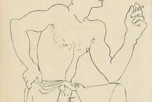 Jean Cocteau et le sexe. / Dessins, souvent d'illustration pour des œuvres de Jean Genet ou Raymond Radiguet. / by Marco Rougeot