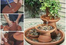 Terracotta water fountain