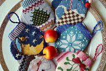 Рождественская вышивка