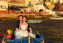 Fang and Jin's wedding in Santorini, Greece
