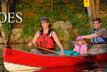 Canoes / We love canoes!  We love how great they are for travelling Ontario's thousands of lakes and rivers.  Relaxing, fun, adventurous and practical.......that's what canoes are to us!