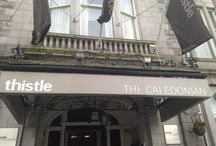 The Caledonian / The Caledonian by Thistle. Located right in the heart of Aberdeen, overlooking Union Terrace Gardens.