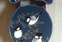 """Handpainted sleds / Wooden sleds I have done...... Approx. 14"""" L x 9"""" w"""