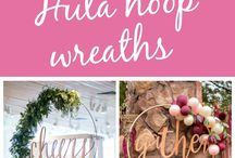 Hula hoop decorations