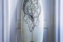 surfboard customize project / Surf designs and sketches done by me and my brother