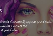 Eyelash-Treatments / Think sultry, long, lush lashes are just for celebrities? Give us the opportunity & will make you a celebrity !