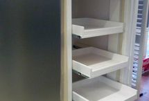 How to make pull out shelves for your pantry and tons of other DIYs-----live this idea. My poor future hubby.  Lol