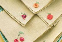 costura e botões