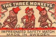 Collections - Safety Matches / Vintage safety matchbox artwork / by Cindy Pestka