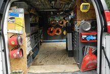 Organized work vans