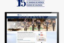 """Diseño Web CIBM / Diseño y programación de la página web del Certamen Internacional de Bandas de Música """"Ciudad de Valencia"""""""