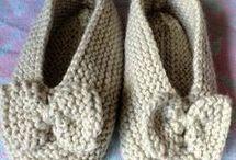 zapatos de punto