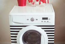 DECORATING WASHING MACHINE And Frige