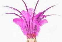 Open Face Ostrich feather & Pheasant Feathers Headdress / All by handmade  Ostrich Feathers & Pheasant Feathers Sequins Open Face Headdress Show girl  Multiple layers of feathers ensure a full headdress. The crown feathers are the most appreciated of the ostrich feathers and pheasant feathers. https://www.etsy.com/listing/235452402/showgirl-hot-pink-open-face-ostrich?ref=listings_manager_grid